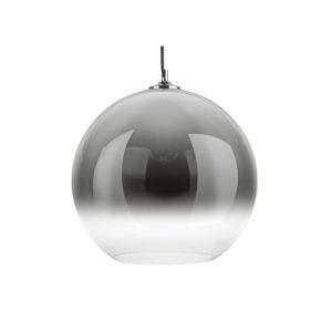 Sivé sklenené závesné svietidlo Leitmotiv Bubble, ø 40 cm