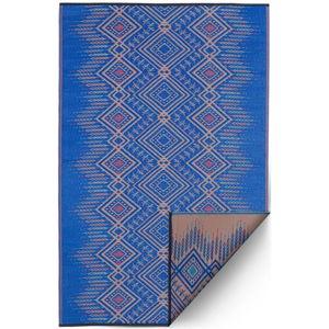 Modrý obojstranný vonkajší koberec z recyklovaného plastu Fab Hab Jodhpur Multi Blue, 120 x 180 cm