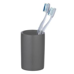 Sivý keramický pohárik na zubné kefky Wenko Polaris