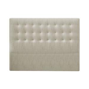 Béžové čelo postele so zamatovým poťahom Windsor & Co Sofas Athena, 180×120 cm