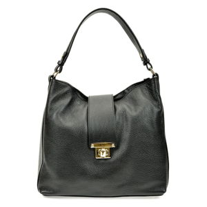 Čierna kožená kabelka Roberta M Bria