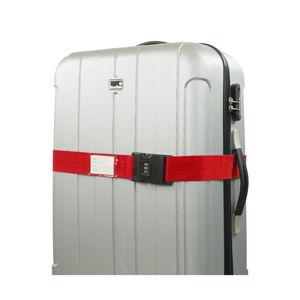 Červený bezpečnostný pás na kufor Bluestar