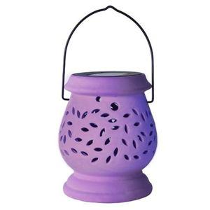 Fialový vonkajší LED lampáš Best Season Clay Lilac