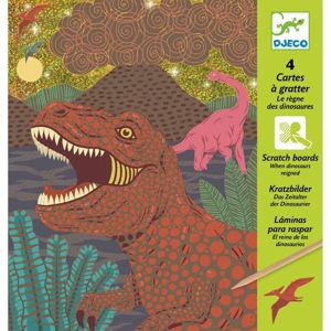 Detské vyškrabávacie obrázky Djeco Dinosaury