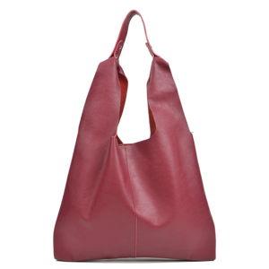 Vínovočervená kožená kabelka Sofia Cardoni Hobo