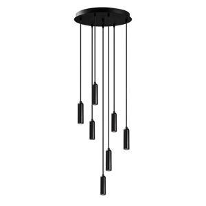 Čierne závesné svietidlo pre 7 žiaroviek Opviq lights Uğur Drop