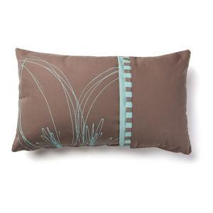 Hnedo-tyrkysová obliečka na vankúš La Forma Agua Lungo, 30 x 50 cm