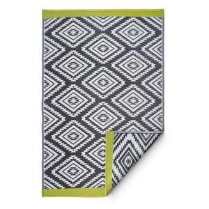 Sivý obojstranný vonkajší koberec z recyklovaného plastu Fab Hab Valencia Grey, 120 x 180 cm