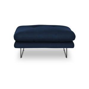 Kráľovskymodrý puf so zamatovým poťahom Windsor & Co Sofas Gravity