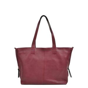Červená kožená kabelka Roberta M Ambra