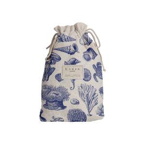 Cestovný vak Linen Couture Blue Coral, dĺžka 44 cm