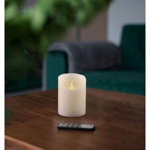 Svetelná sviečka s diaľkovým ovládačom DecoKing Subtle, výška 10 cm