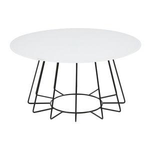 Príručný stolík s doskou z temperovaného skla Actona Casia, ⌀ 80 cm