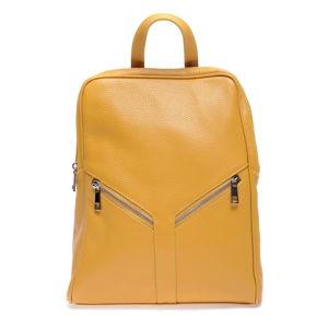 Žltý kožený batoh Roberta M Linda