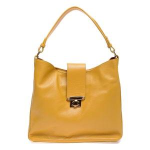Žltá kožená kabelka Roberta M Bria