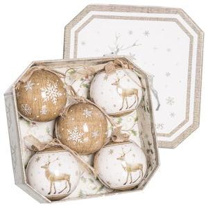 Sada 5 vianočných ozdôb Unimasa Deers